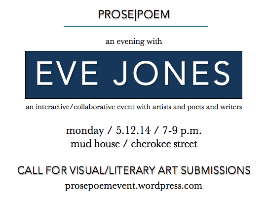 ANNOUNCEMENT: An Evening with Eve Jones